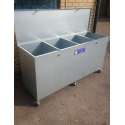 Mobile 4 Compartment Feed Bin