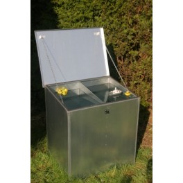 Weather Proof QUADRUPLE Compartment Feed Bin - 4 compartments