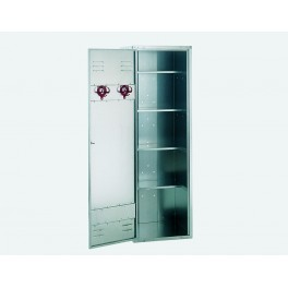 4 Shelves Extra Tall Blank Locker (190cm High x 60cm Wide) with 4 Shelves