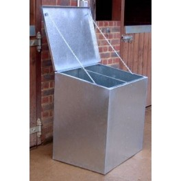 Premium Galvanised Feed Bin - 2 compartments (Double)