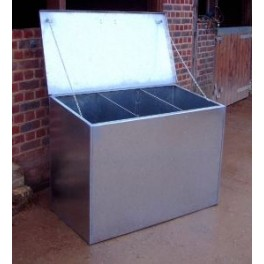 Premium Galvanised Feed Bin - 3 compartments (Triple)