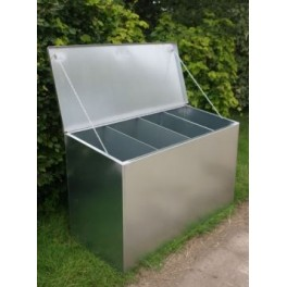 Premium Galvanised Feed Bin - 4 compartments (Quadruple)