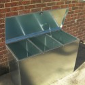 Heavy Duty Medium Galvanised Feed Bin - 3 Compartments