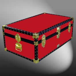 Customisable Storage Trunk - L84 x W50 x H31 cm - 130 Litre - Wooden, ABS Trim