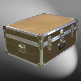 Customisable Storage Trunk - L69 x W50 x H31 cm - 107 Litre - Wooden, ABS Trim