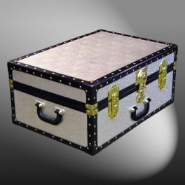 Customisable Storage Trunk - L61 x W43 x H27 cm - 70.8 Litre - Wooden, ABS Trim