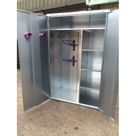 Double Door Galvanised Tack Locker
