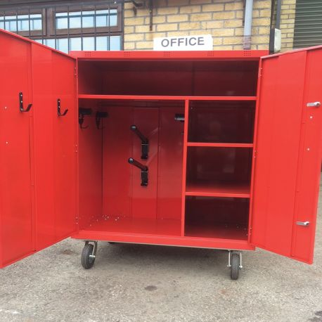 "2 Saddle Mobile "" Coloured Powder Coated"" Competition Show Locker"
