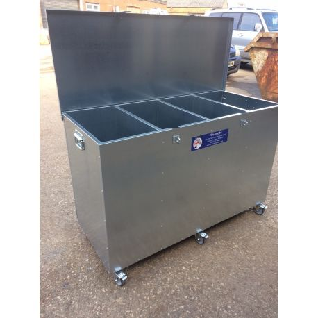 4 Compartment Mobile Feed Bin