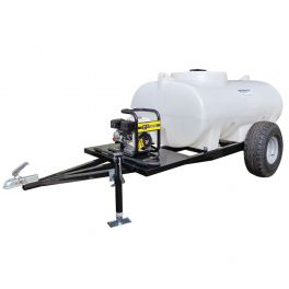 1200L Site Tow Interpump Pressure Washer Bowser - Honda Recoil Start Petrol Engine - 12L/min 2175 Psi Pump - 8m Hose & Lance
