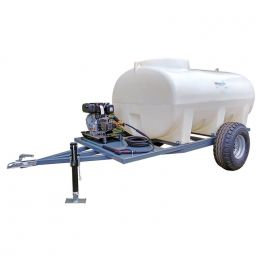 3000L Site Tow Pressure Washer Bowser - Honda Recoil Start Petrol Engine - 12L/min 2175 Psi Pump - 8m Hose & Lance