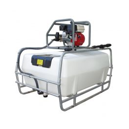 300L Pressure Washer Skid Unit - Honda Recoil Start Petrol Engine - 12L/min 2175 Psi Pump - 8m Hose & Lance - Blue Tank