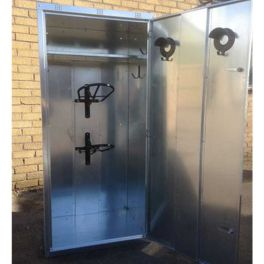 Extra Wide 2 Saddle Tack Locker - Galvanised