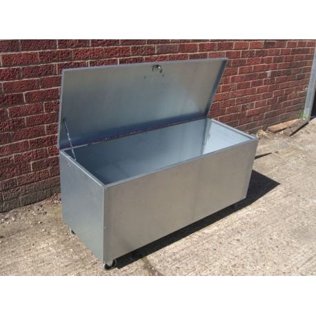 Premium Galvanised Mobile 1 Compartment Feed Bin Large