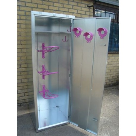 Extra Height 3 Saddle Tack Locker - Galvanised - standard