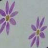 Wood Wash Cream w Purple Flowers